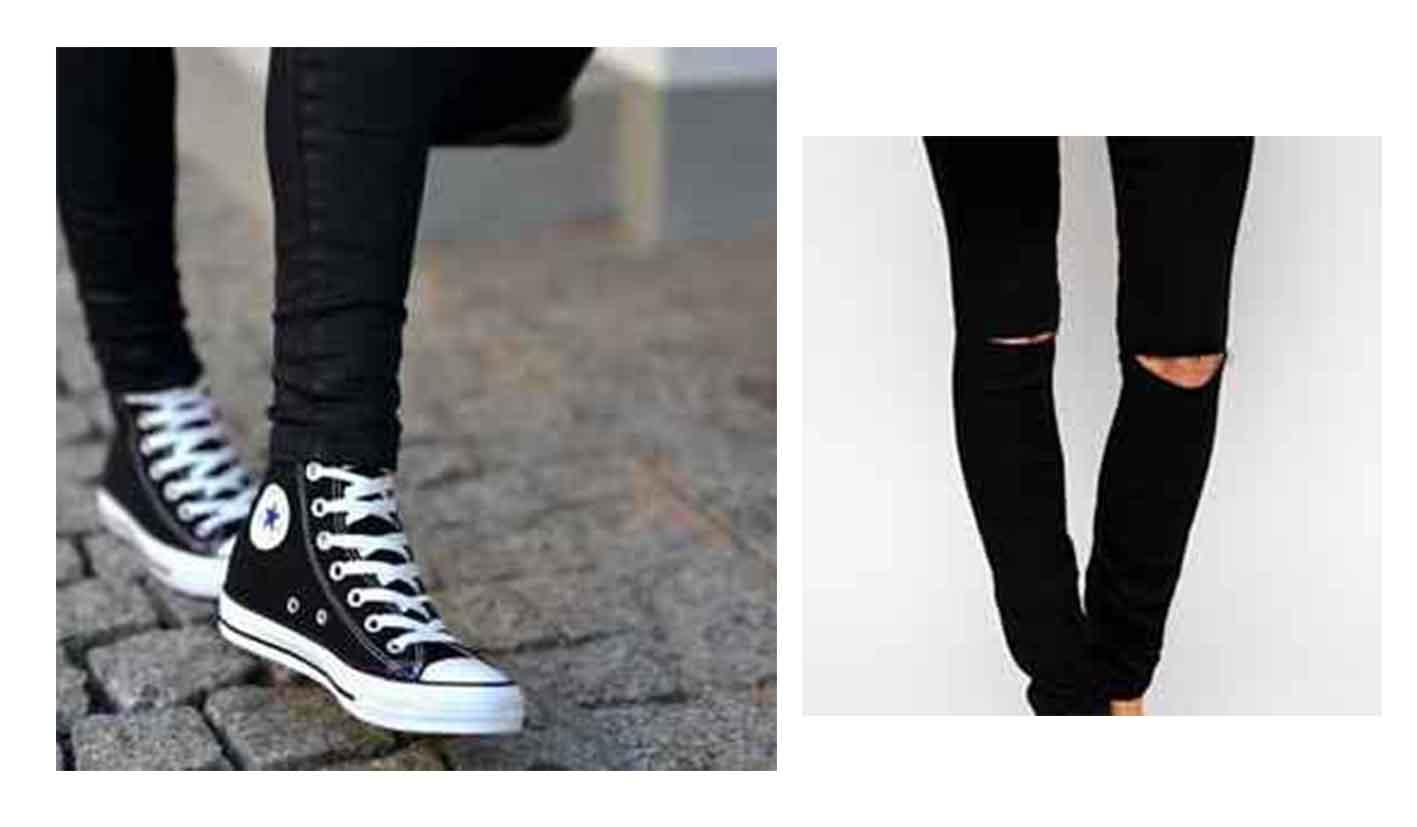 converse e jeans skynny