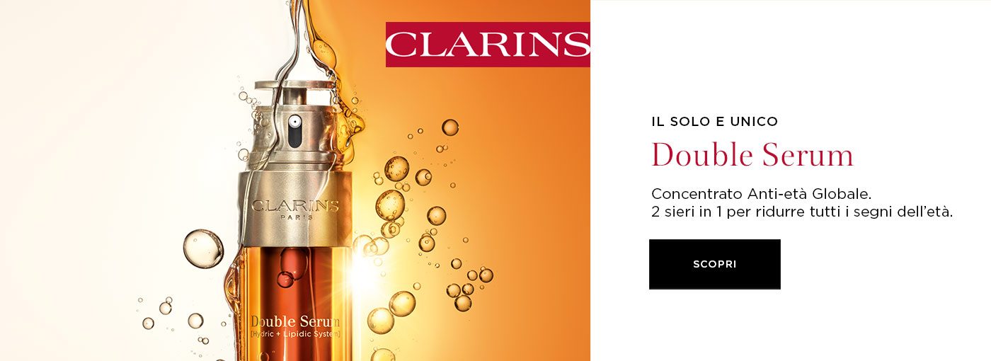 Clarins product banner