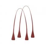 Accessori - O Bag Doppio Manico in Ecopelle Angular Lungo Terracotta