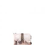 Pochette - Y Not? Pochette manicotto M Off White Gun Metal Beige Manhattan H 384