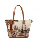 Shopping bag - Y Not? Borsa Shopping M Cuoio Gold Amazing London H 396