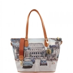 Shopping bag - Y Not? Borsa Shopping M Cuoio Gold Weekend in Rome H 396