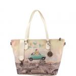 Shopping bag - Y Not? Borsa Shopping M  White Gun Metal Funny in Rome H 396