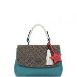 Hand Bag - Le Pandorine Borsa Hand Bag Pon Pon Shut Up Bluette