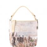 Shopping bag - Y Not? Shopping Bag L Off White Gun Metal Beige Manhattan H 349