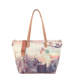 Shopping bag - Y Not? Shopping Bag L Cuoio Gold Lively NY H 397