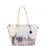 Shopping bag - Y Not? Shopping Bag L Off White Gun Metal Beige Manhattan H 397