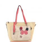 Shopping bag - Y Not? Shopping Bag L Linea Reverso R004 Beige
