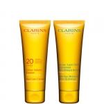 media protezione - Clarins Protezione Viso Spf 20 200 ML + Dopo Sole Corpo 200 ML