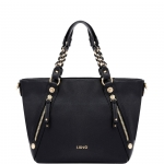 Shopping bag - Liu jo Borsa Shopping Bag L Con Zip Lavanda Nero