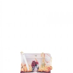 Pochette - Y Not? Borsa Pochette M Off White Gold Poppies H 403