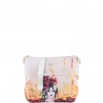Sacca - Y Not? Borsa Sacca M Off White Gold Poppies H 491