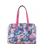 Shopping bag - Y Not? Borsa Shopping Bag L Blu Fucsia Las Vegas LS 006