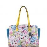 Shopping bag - Y Not? Borsa Shopping Bag L White Yellow Las Vegas LS 006