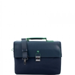 Cartella - Y Not? Briefcase L Blu Business BIZ 8520