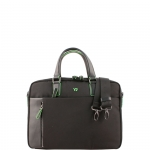 Cartella - Y Not? Briefcase due Manici L Nero Business BIZ 8550