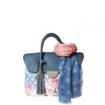 Hand Bag - Pash BAG by L'Atelier Du Sac Borsa Hand Bag M Ocean Denim 4898 Petit Orleans