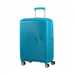 Trolley - American Tourister Valigia Trolley Sound box Spinner Exp M Summer Blue