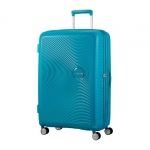 Trolley - American Tourister Valigia Trolley Sound box Spinner Exp L Summer Blue