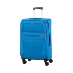 Trolley - American Tourister Valigia Trolley Summer Voyager Spinner Exp M Breeze Blue
