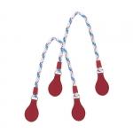 Accessori - O Bag Doppio Manico a Goccia in Corda e Tessuto Gommato O Bag Rosso