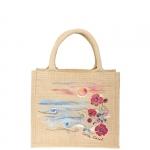 Shopping bag - Carla Caroli Borsa in Juta dipinta a mano CCB02
