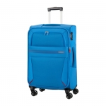 Trolley - American Tourister Valigia Trolley Summer Voyager Spinner Exp L Breeze Blue