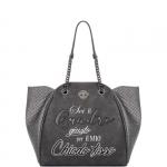 Shopping bag - Le Pandorine Borsa Shopping Bag Classic Glitter QUADRO Dark Grey