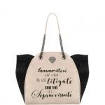Shopping bag - Le Pandorine Borsa Shopping Bag Classic Velvet SOPRAVVISSUTO Beige