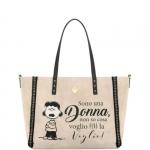 Shopping bag - Le Pandorine Borsa Shopping Bag Reversible Bag DONNA Beige