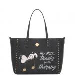 Shopping bag - Le Pandorine Borsa Shopping Bag Reversible Bag THERAPY Black