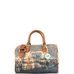 Bauletto - Y Not? Borsa Bauletto S Dark Tan Gold YLON Golden Bridge I 317 GBD
