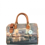 Bauletto - Y Not? Borsa Bauletto M Dark Tan Gold YLON Golden Bridge I 318 GBD