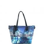 Shopping bag - Y Not? Borsa Shopping Bag Zip M Black Gun Metal YNY Broadway I 396 BRO