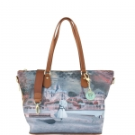Shopping bag - Y Not? Borsa Shopping Bag Zip L Dark Tan Gold YPAR Mademoiselle I 397 MAD