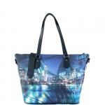 Shopping bag - Y Not? Borsa Shopping Bag Zip L Black Gun Metal YNY Broadway I 397 BRO