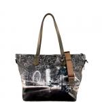 Shopping bag - Y Not? Borsa Shopping Bag Zip L Stardust Galaxy Londra Taupe I 397 GXY