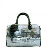 Bauletto - Y Not? Borsa Bauletto M Grey Gun Metal YROM Romantic Coach I 318 ROC