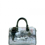 Bauletto - Y Not? Borsa Bauletto S Grey Gun Metal YROM Romantic Coach I 317 ROC