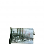 Pochette - Y Not? Borsa Pochette M Grey Gun Metal YROM Romantic Coach I 303 ROC