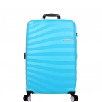 Trolley - American Tourister Valigia Trolley Oceanfront Spinner L Spring Blue