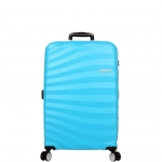 Trolley - American Tourister Valigia Trolley Oceanfront Spinner M Spring Blue