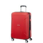 Trolley - American Tourister Valigia Trolley Tracklite Spinner L Exp Flame Red
