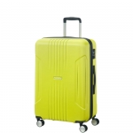Trolley - American Tourister Valigia Trolley Tracklite Spinner L Exp Sunny Lime
