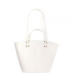 Shopping bag - Nalì Borsa Shopping Bag Saffiano Bianco