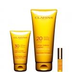media protezione - Clarins Creme Solaire Confort Crema UVA/UVB 20 e Creme Solaire Anti-Rides Visage Confezione