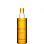 pelli ipersensibili - Clarins Spray Solaire Lait Fluide Sécurité UVA/UVB 50 - Latte-Fluido Solare Spray Antietà Idratante SPF 50