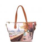 Shopping bag - Y Not? Borsa Shopping Bag L Parigi Eiffel Walk J 397 EIFFEL