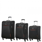 Trolley - American Tourister Trolley Kit Spinner S- M- L Rally Onyx Black