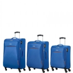 Trolley - American Tourister Trolley Kit Spinner S- M- L Rally Cool Blue